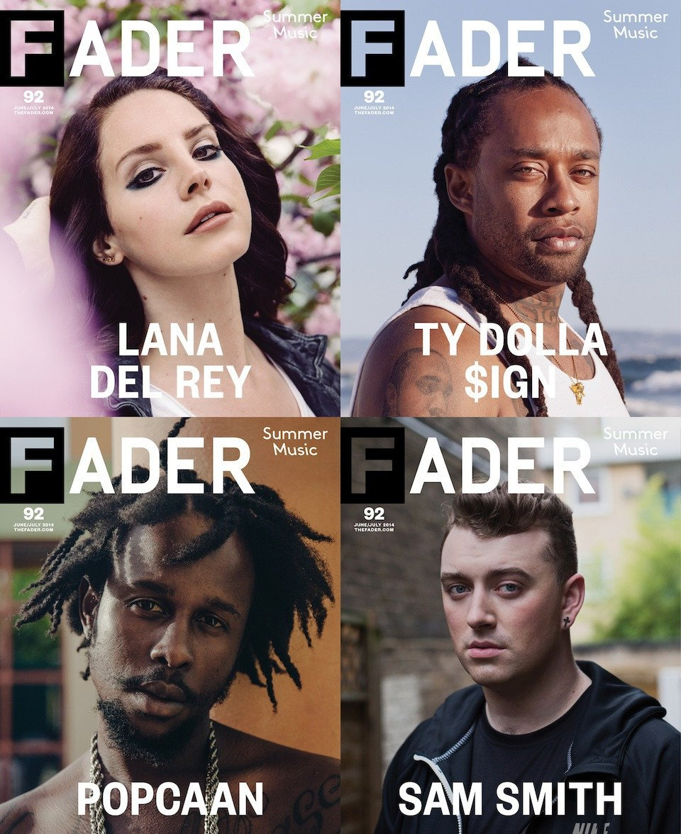 """<a href=""""http://www.thefader.com/2014/06/04/introducing-the-faders-2014-summer-music-issue-lana-del-rey-ty-dolla-ign-popcaan-and-sam-smith"""" target=""""_Blank"""">THE FADER</a>"""