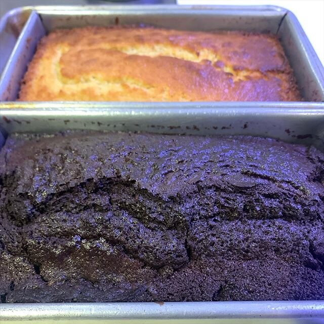 Our lemon loaf cake and Vegan chocolate loaf cakes are hot and fresh out of the oven for tomorrow's Pop Up! We'll be open from 8am - 2pm for masking wearing, contactless coffee and pastries! Stop in and ask us about our reopening date (coming soon) ??