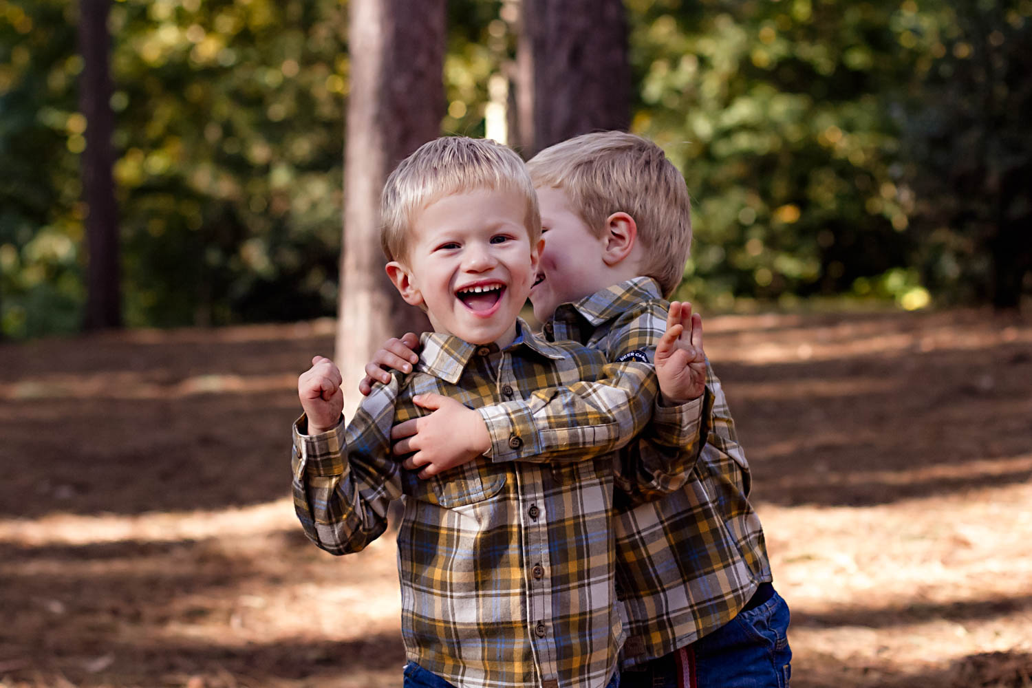 Child Portrait - Twins - play fighting - Bedford.jpg