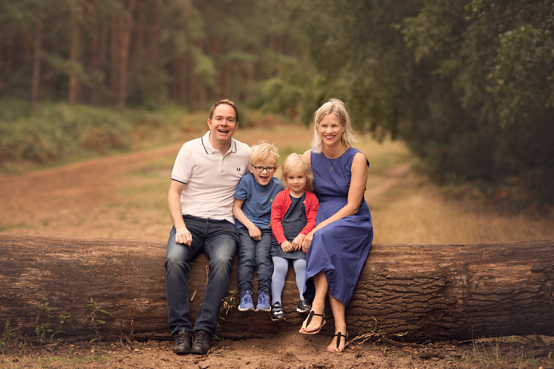 Family Portrait taken at Aspley Heath near Woburn by Bedford Family Photographer