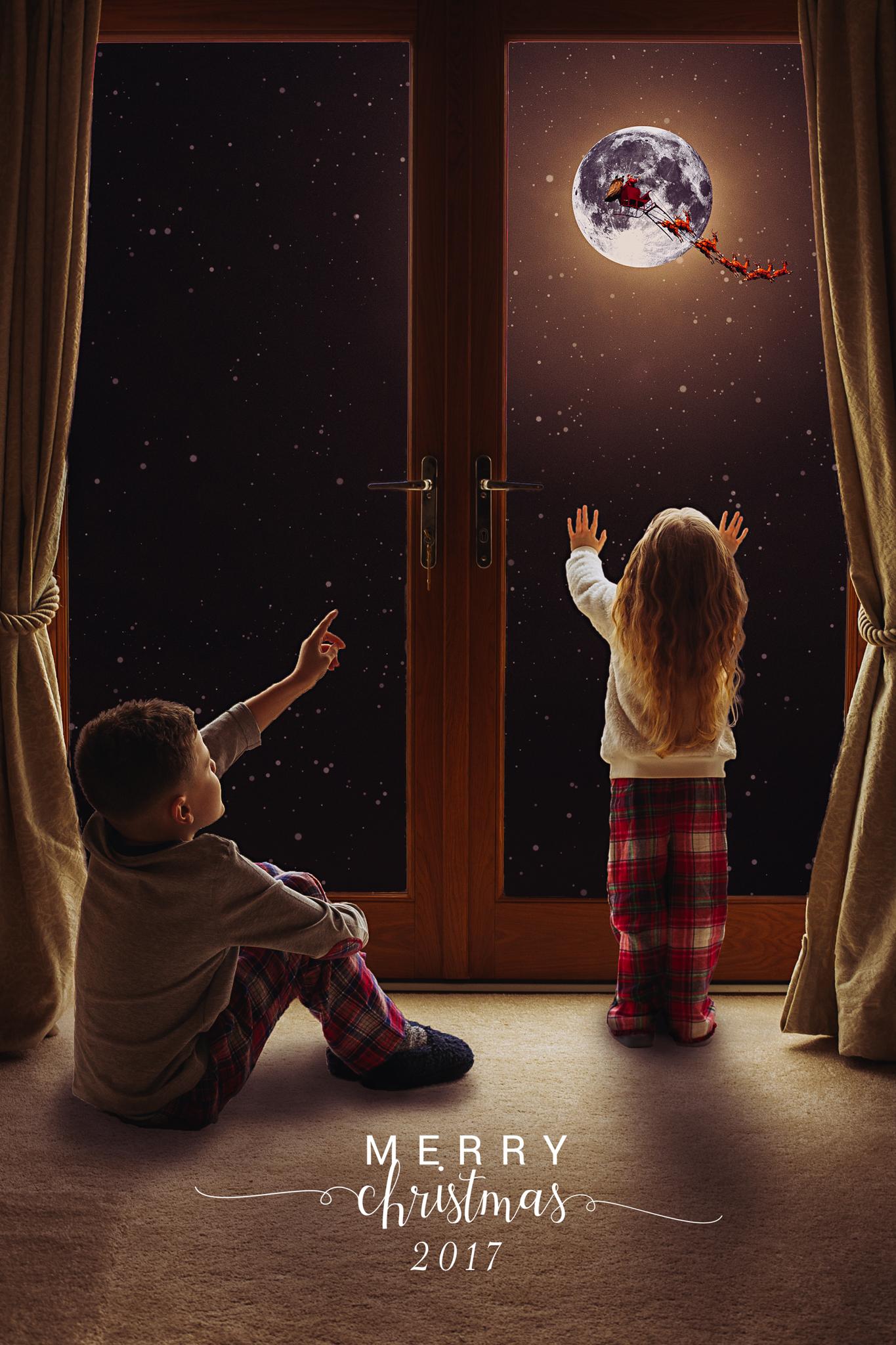 Design 3 - Santa - Window doors - Suitable for a maximum of 3 children