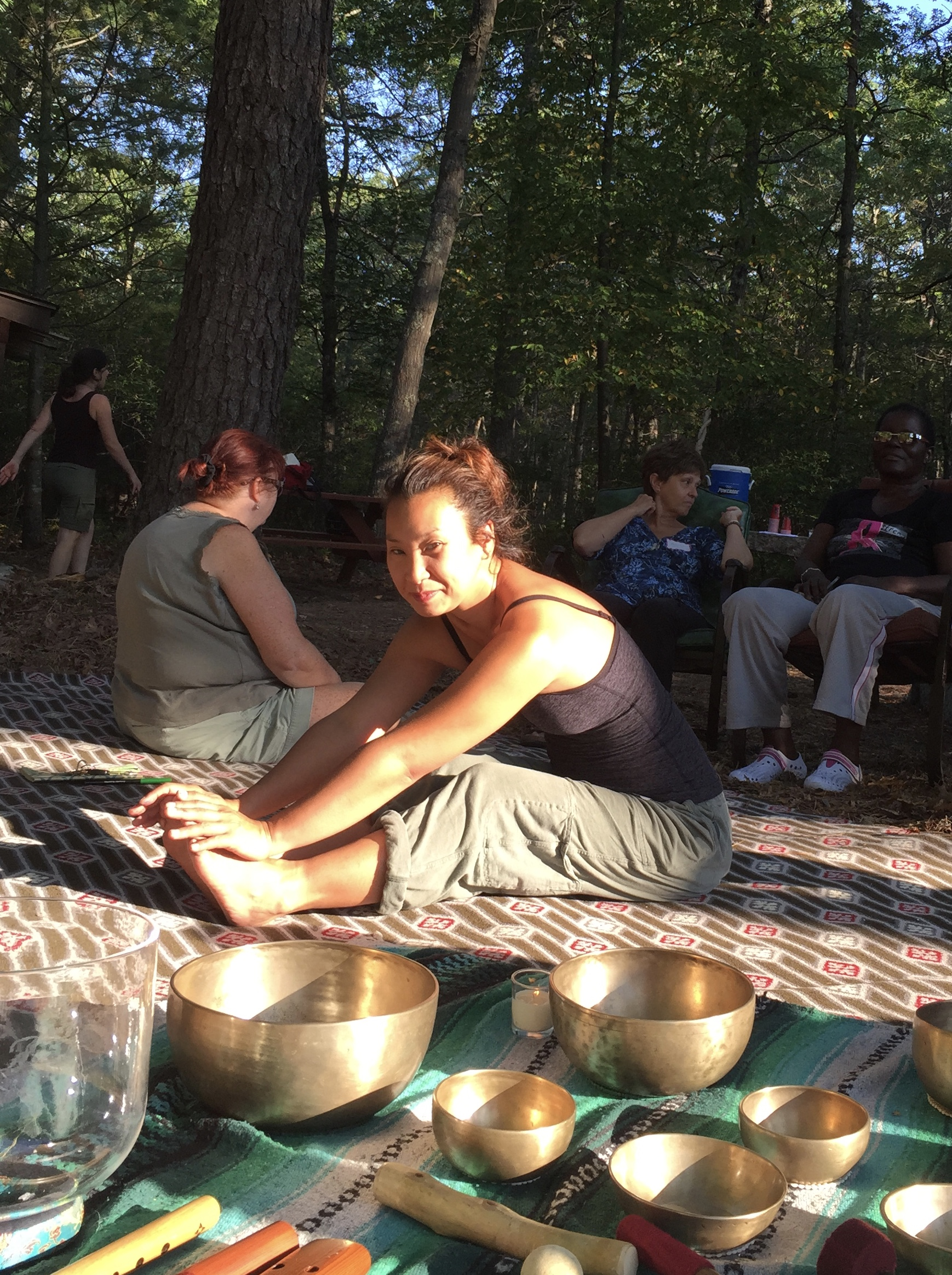 Photos from Sound Journey in the woods, Women's Oncology Retreat, Exeter, RI- Summer 2015