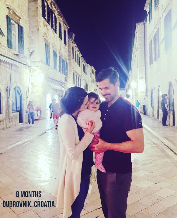 Karina taking in beautiful Old Town Dubrovnik.