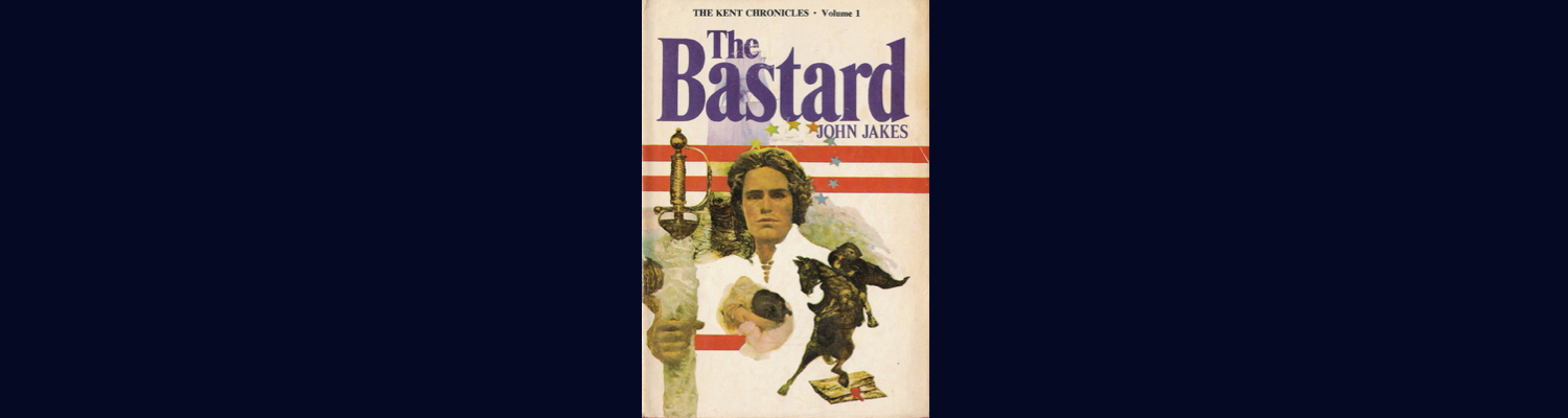 """A young Englishman claims the upper-class wealth and title he feels are owed to him, but instead finds himself working as a printer in revolutionary Boston, where he learns of love, danger, and freedom.       After more than two decades as a writer, Jakes was thinking of giving up when he decided to make one more effort. The eight-volume series he embarked upon has since sold over 55 million copies. Leading character Phillip Kent begins the saga as the illegitimate son of an English duke. His story is picaresque (about a roguish hero of low social class who lives by his wits in a corrupt society).       When Phillip and his mother cross over from France to claim his inheritance, they find the old man on his deathbed. Soon after they discover themselves robbed by his haughty wife and Phillip's sadistic half-brother. They are forced to flee to London, but not before Phillip exacts a particularly delightful revenge.      In the great city, Phillip learns the printer's trade and meets Benjamin Franklin. After his half-brother tracks him down, Phillip sails for America where he masters his craft and becomes involved in the politics that are quickly leading the colonies into revolution. While the fires of protest rage, a red-hot romance develops between Phillip and the daughter of one of the men who is directing these historic events.       The Bastard is tale told in an easy, fluid style. Its writing fluctuates, sometimes reading like a high school textbook and other times like a Harlequin Romance:       """"His hands sought her. Warm private places tingled his fingertips. He felt passion change her body, as his had changed. The meadow grass rippled in the wind. A whispering. Cries of gulls drifted from the harbor. The hot light poured down as her own hands moved over him, and his grew bolder. Jolted, he moved back a second as she pulled away. She thrust down her skirt as his eyes flared with anger. Sitting up she brushed off her bodice. She wouldn't look at him.""""       Phi"""