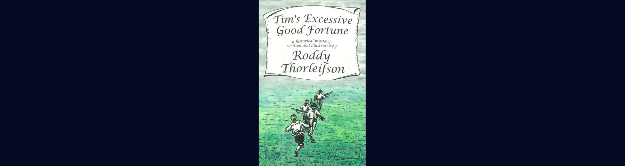 """It is the third year of the American Revolution and Tim Euston, a seventeen-year-old carpenter's apprentice, has arrived in Morristown, New Jersey. George Washington's army had just marched out to face the British, and Tim is eager to follow after them and join up as a common foot soldier. But before he can leave, Tim experiences some spectacular good luck. He impresses a drunken captain with military knowledge gained through his study of officers' manuals and military histories. The captain impulsively decides he will recommend Tim for an officer's commission to serve as his ensign. But Tim is not the only one who has been hoping to be an officer, and as news spreads, many are envious and resentful.  The captain has barely recovered from his hangover when Tim stumbles upon the body of a murdered officer. Those who resent Tim's good fortune are quick to presume guilt. Tim now has to clear his name and as well prove he deserves a commission. But how? Is Tim's remarkable good fortune turning out to be excessive good fortune?  When Tim talks it over with his sister Sadie and his best friend Dan, they only want to tease him.  """"Watch out, Sadie!"""" hissed a young man's voice from the door. """"It's Tim Euston you stand before. The crazed killer! There before you, and ready to kill again, no doubt!""""  """"Dan! Will you… you don't…"""" stammered Tim.  """"Now don't worry yourself, boy,"""" said Dan Eliot as he came over to give him a pat on the shoulder. """"We'll believe that it wasn't you. At least we'll claim that we do."""" …  """"How do you know all this?"""" asked Tim.  """"The colonel's cook heard it all, over at Arnold's Tavern. She was here just now, with some shortbread to sell. And while she waited for the mistress she was telling it all to your mother. And I was there to hear.""""  """"Well! Bad news travels fast,"""" grumbled Tim.  Thorleifson's writing is clear and accessible. His language is simple but not simplistic. He anticipates the reader's questions and his research has been thorough. The stor"""