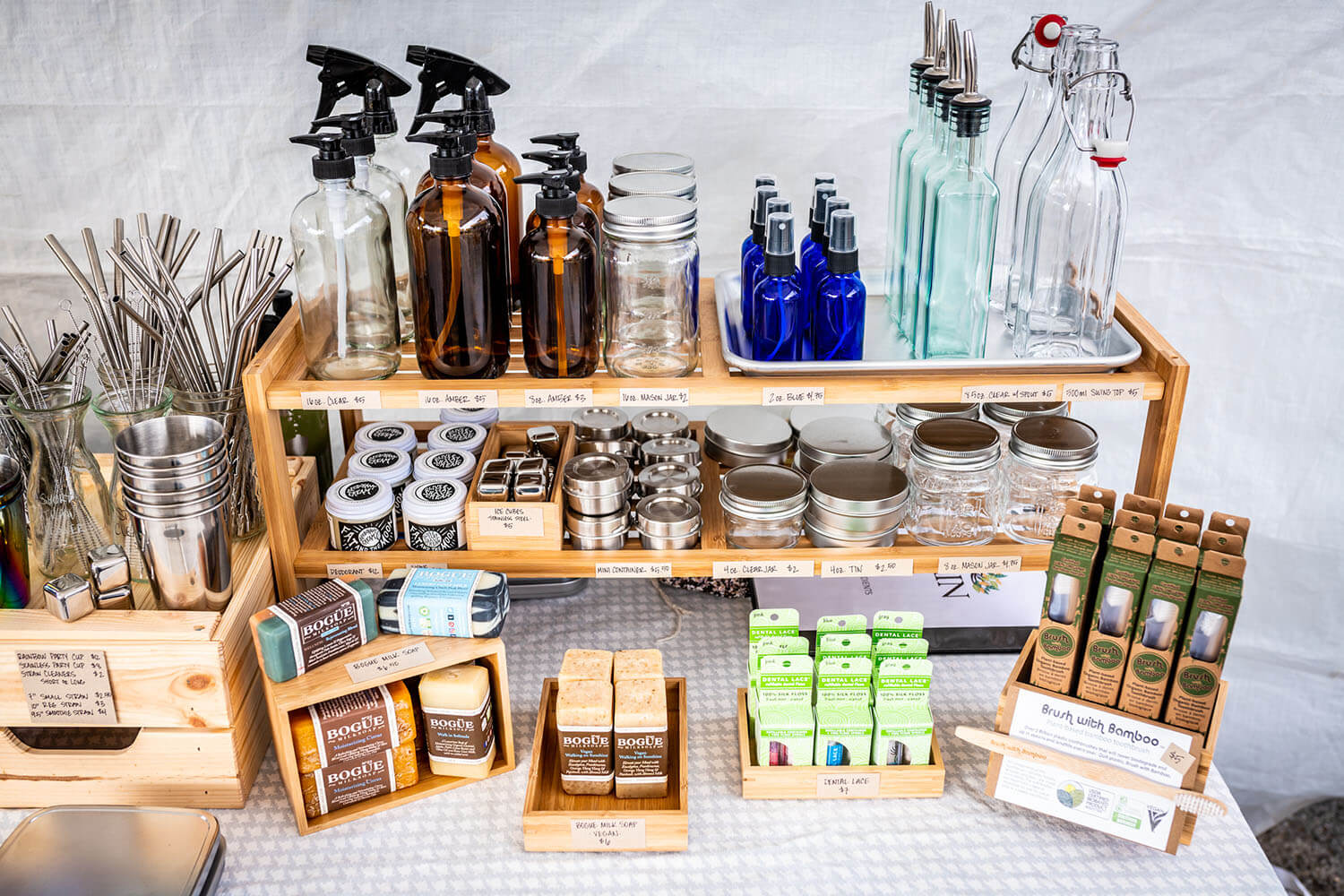 Jars and spritzers at Sustain LA Refill Station