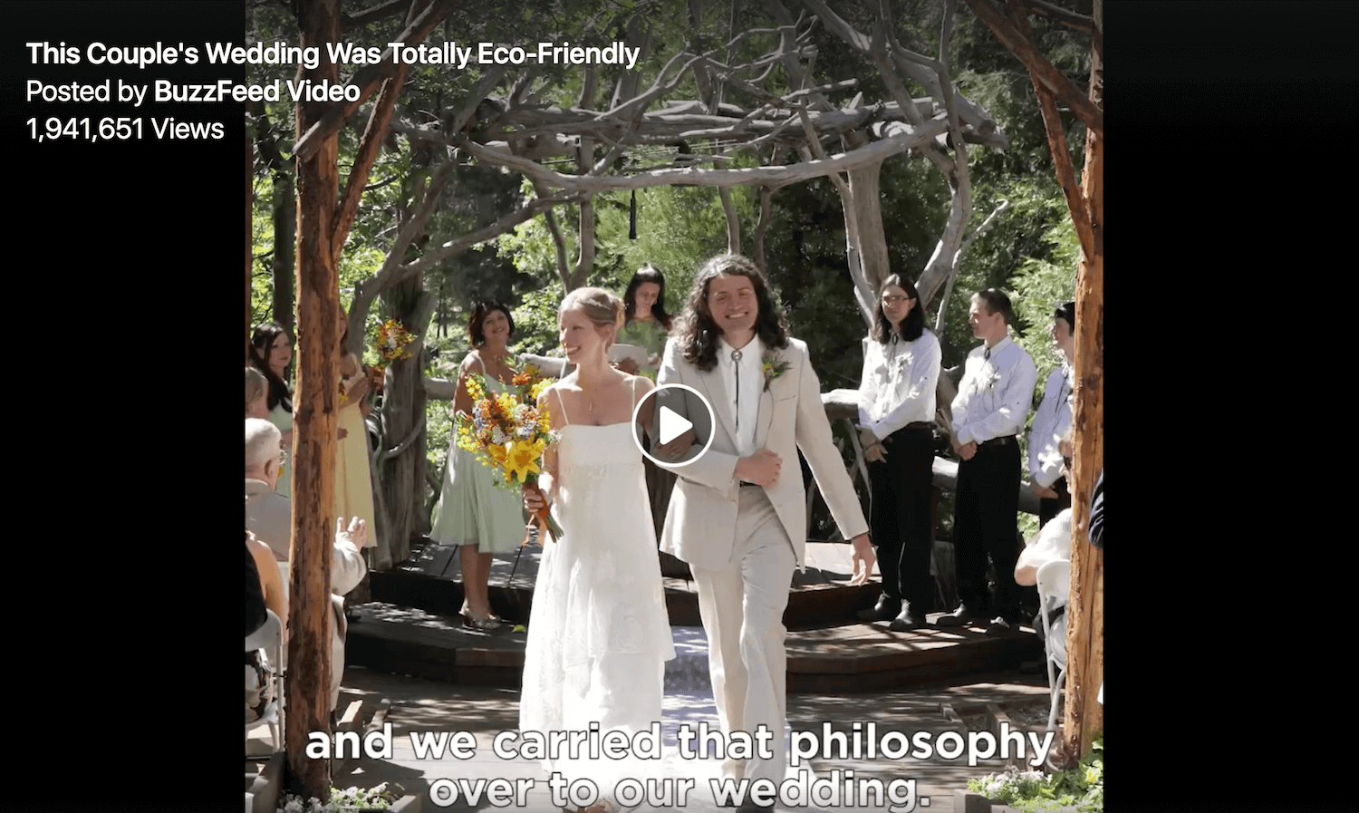 Zero Waste Wedding in LA