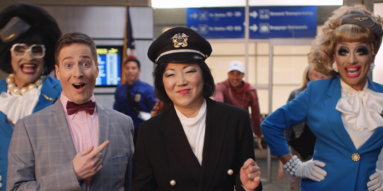 "Orbitz goes all in with a song-and-dance mini movie in ""It's a Great Big World."" Photo credit: Orbitz"