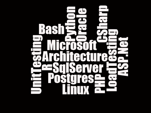 Microsoft CSharp Linux LoadTesting UnitTesting SqlServer Postgres ASP.Net Python Oracle Bash PHP R Architecture