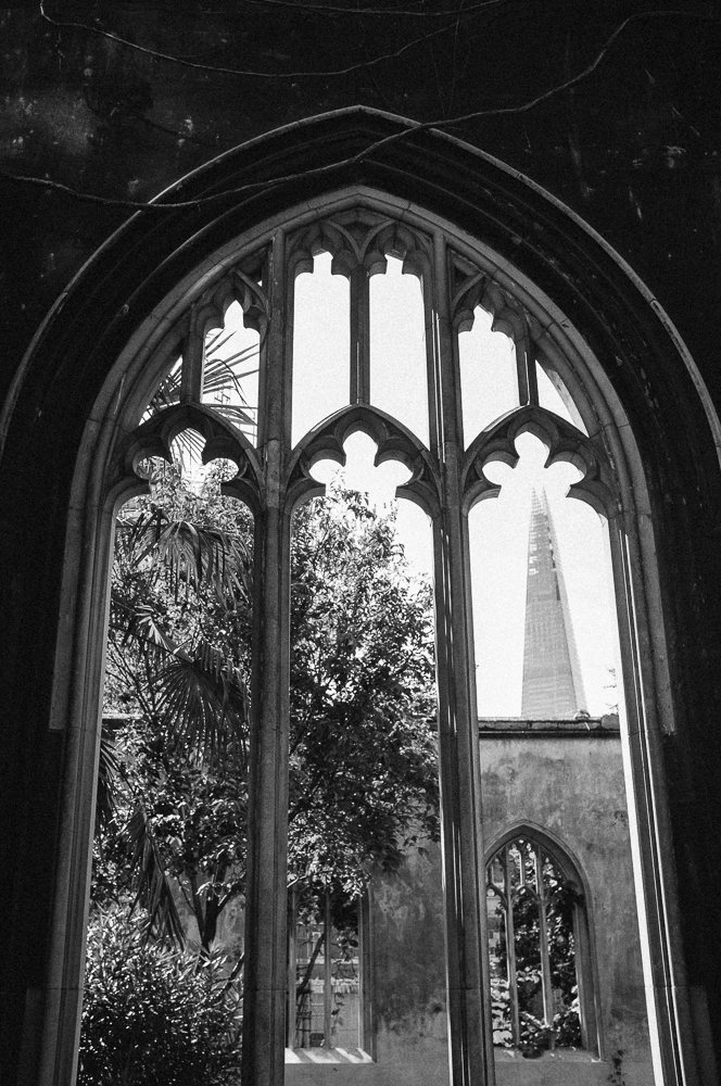 St Dunstan, a quiet garden with views of the Shard