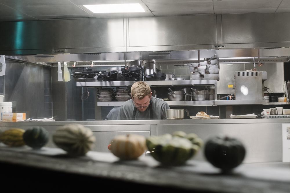 Chef hard at work at Rocksalt restaurant