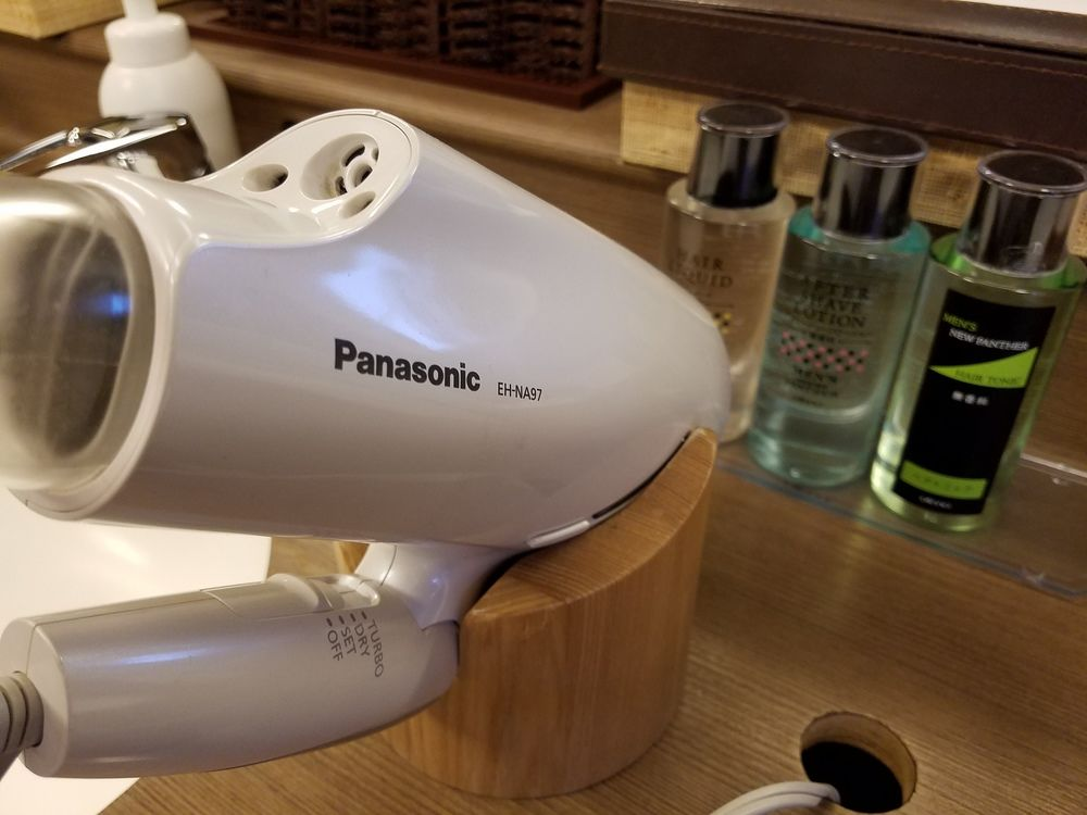 Hair dryers galore!