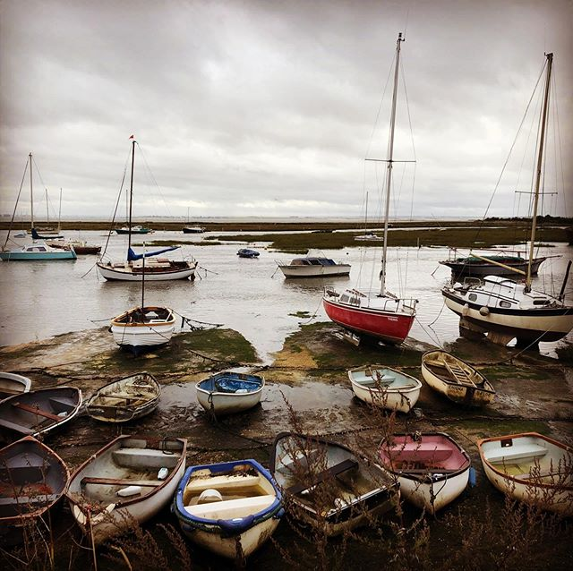 Stormy skies over Leigh-on-Sea harbour. Autumn is here! #leighonsea #leighonsealife #leighonseaessex