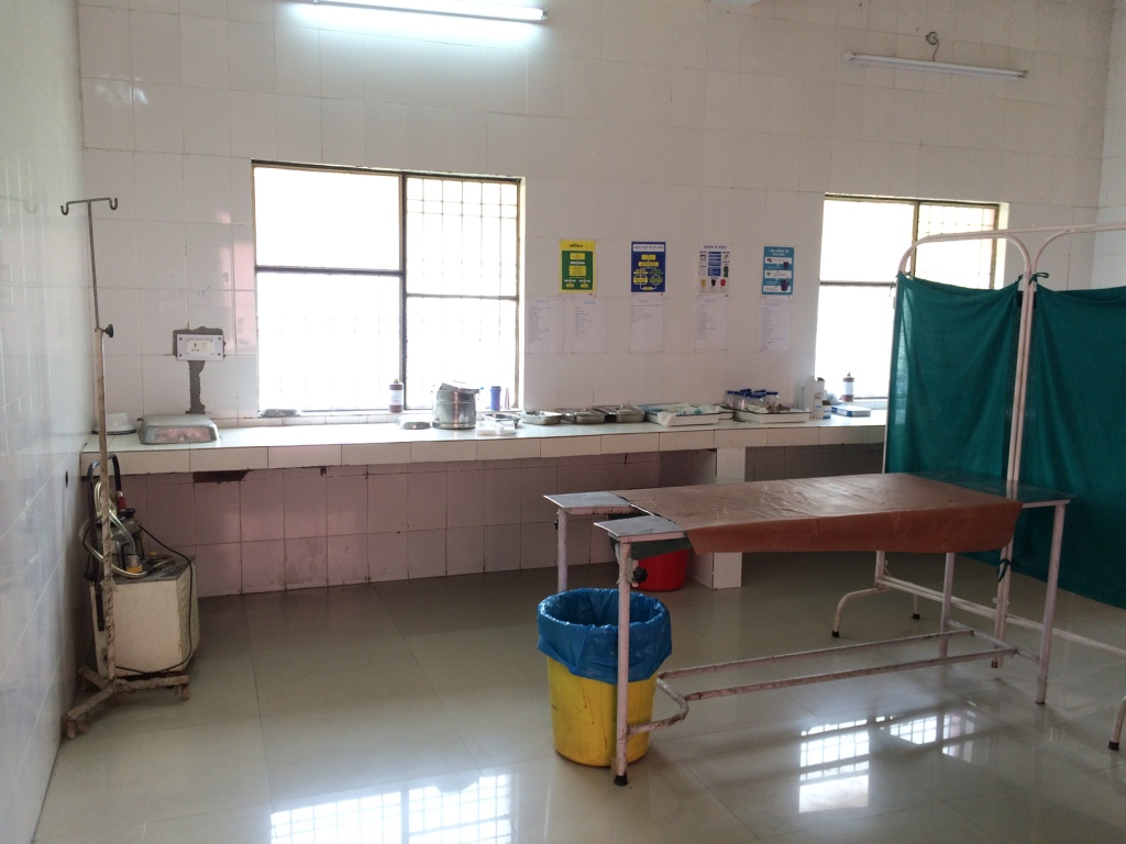 The labor room in a Community Health Center