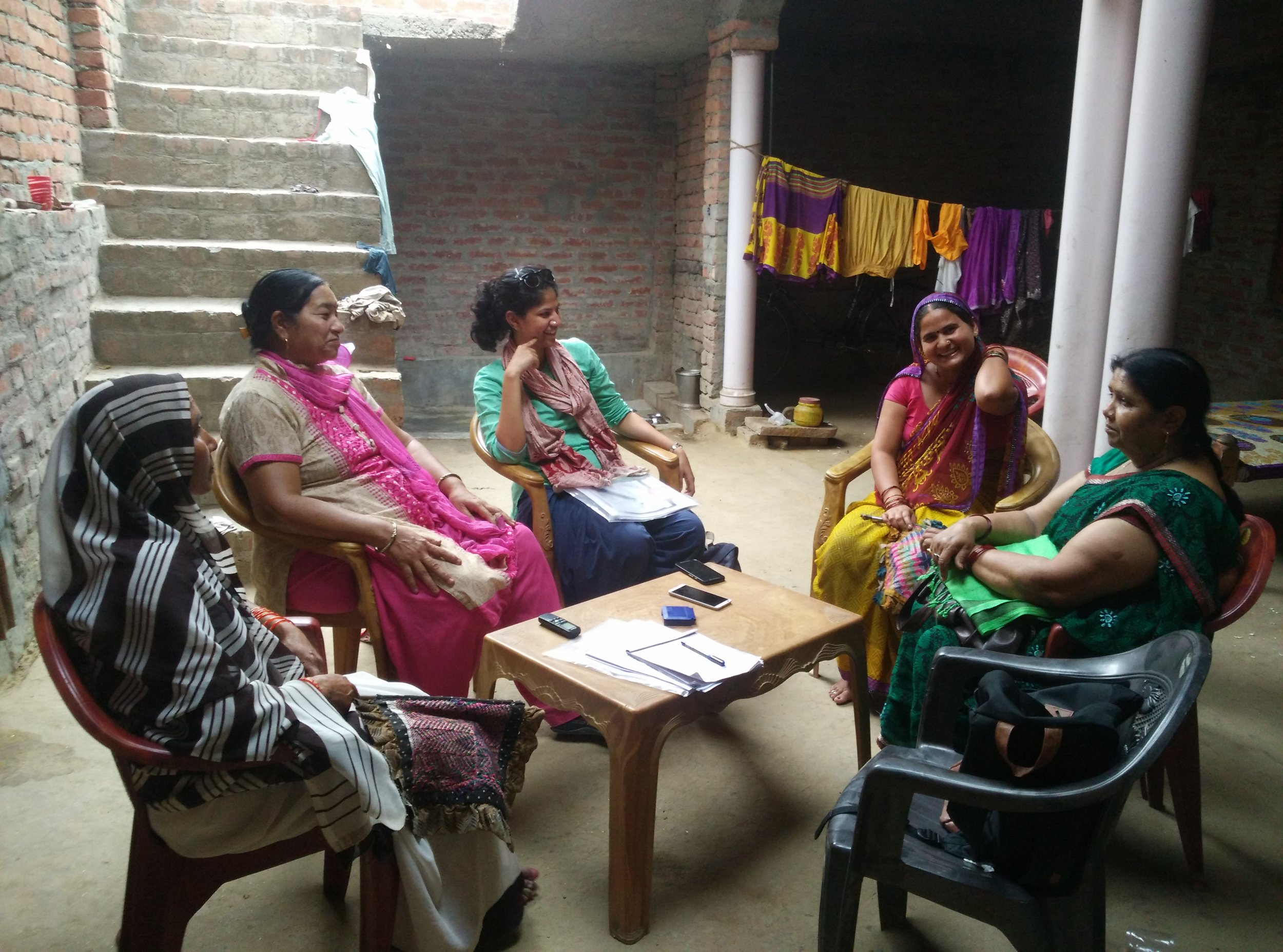 Every area has a group of 3 social workers supporting them: ASHA (Accredited Social Health Activist), ANM (Auxiliary Nurse Midwife), AWW (Aanganwadi Worker)