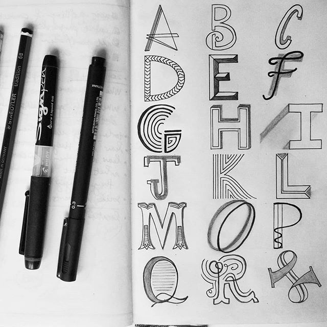 That time I didn't realise that I missed an N and spelled MOP until I reached the S. Wish I could have used the mop to erase and restart.  #handlettering the alphabet alongside its #makers. In love with my #6bpencil
