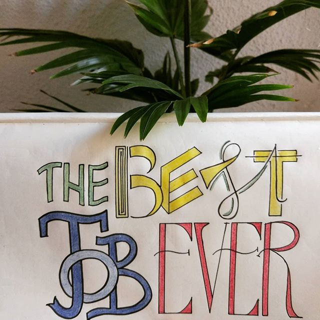 Never an answer to this statement. But these days, #lettering feels like #thebestjobever
