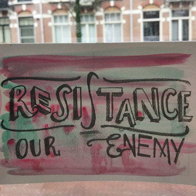 I'm reading a book about resistance and art being enemies