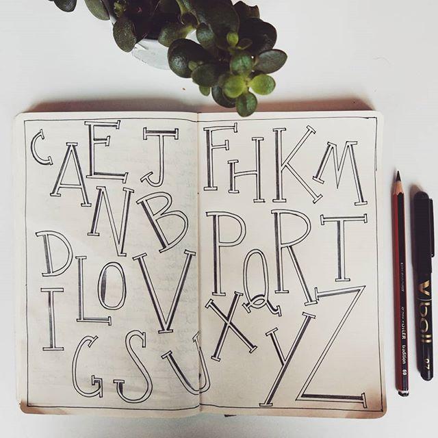 #alphabettuesday #handlettering