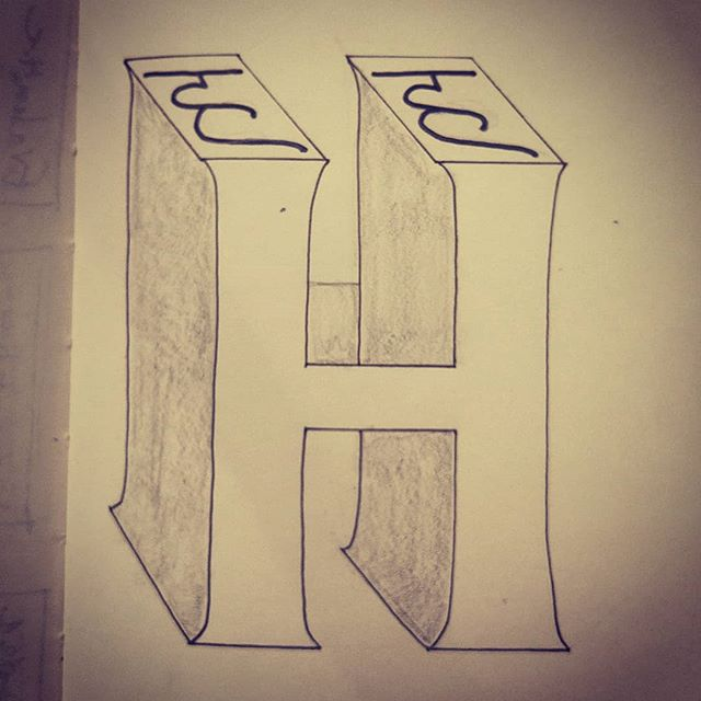 ह से हिंदी   H for Hindi  Lazy effort, but combining the two H forms was hard!#36daysoftype #36daysoftyep_05 #36days_H #Hinditypes