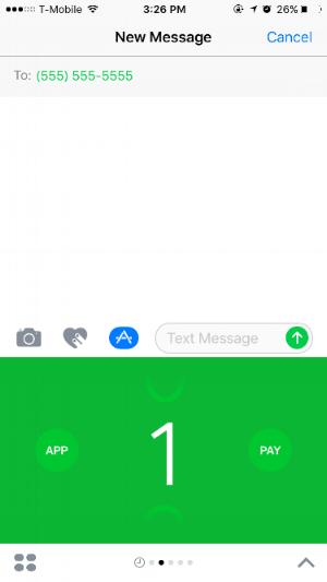 Cash built into Messages.
