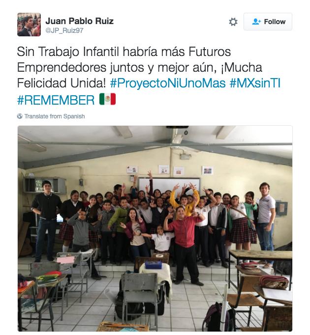 Cuarto Lugar: Juan Pablo Ruiz Padilla