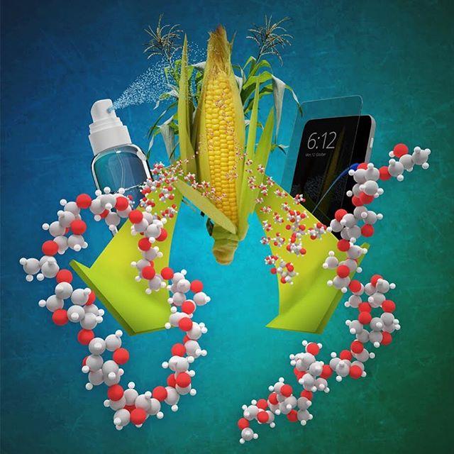 Another journal cover concept,  titled: Architectural control of isosorbide-based polyethers via ring-opening polymerization. This one was not published but the bottle and phone were fun to work on.  #blender3d #3d #corn #polymers #polymerscience #sustainablepolymers #sustainableplastic