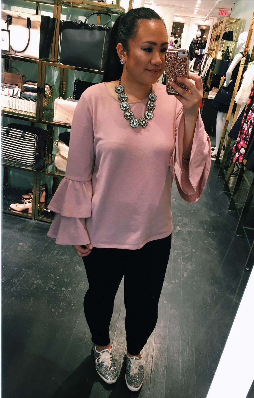 ALL IN THE SLEEVE - Obsessed as of 2018-Statement sleeve tops that are similar to mine are posted down below! Could not find the exact links to each top- but there are some great deals on them right now! I love these tops because they add a nice flair to any plain top!