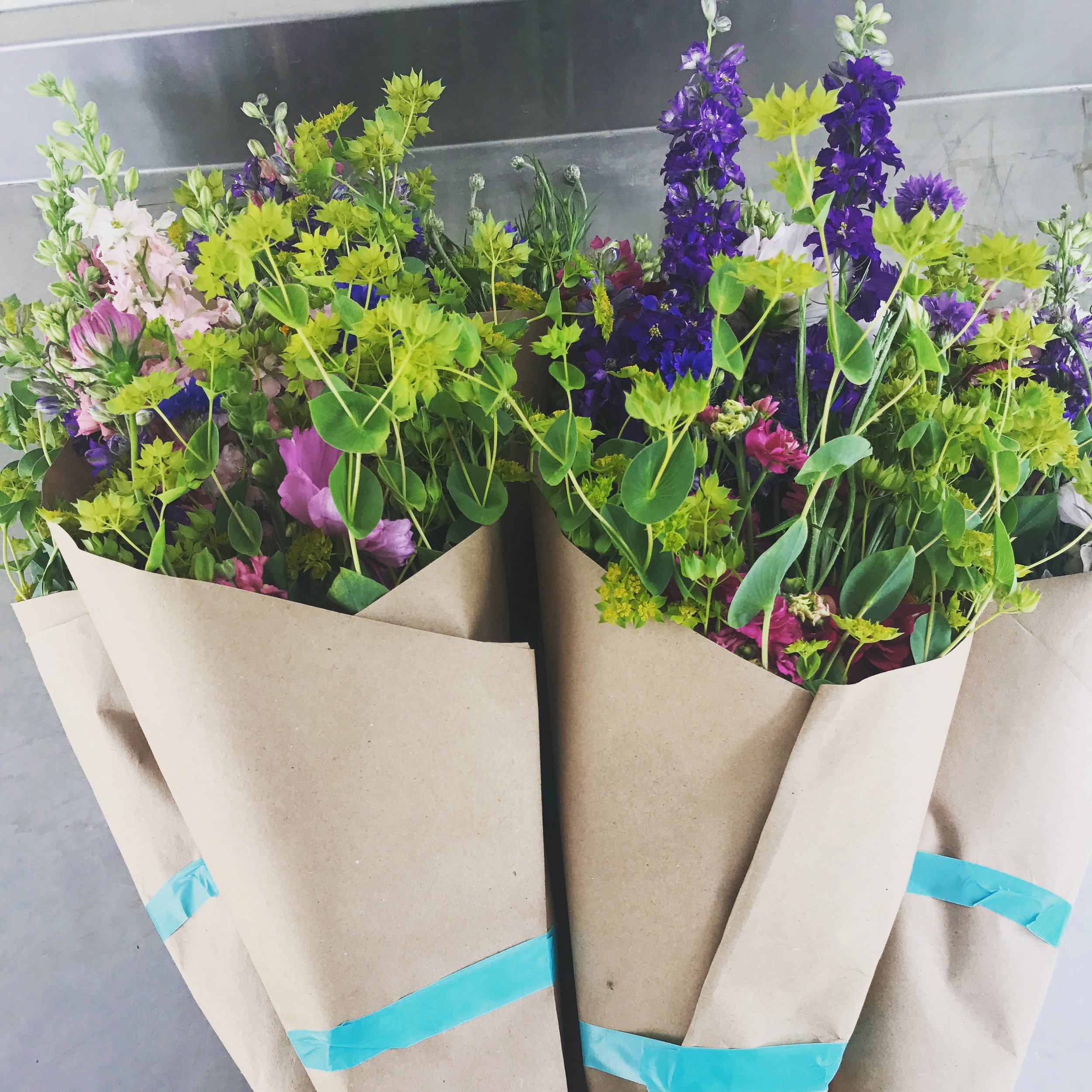 As a Flower Share member, you will receive an arrangement of fresh cut, chemical-free, seasonal flowers for ten weeks during the summer. - .
