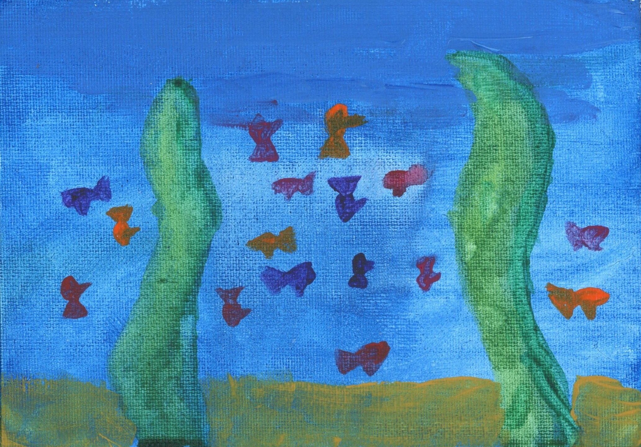 Prize Winner  Best painting, Isabelle aged 10
