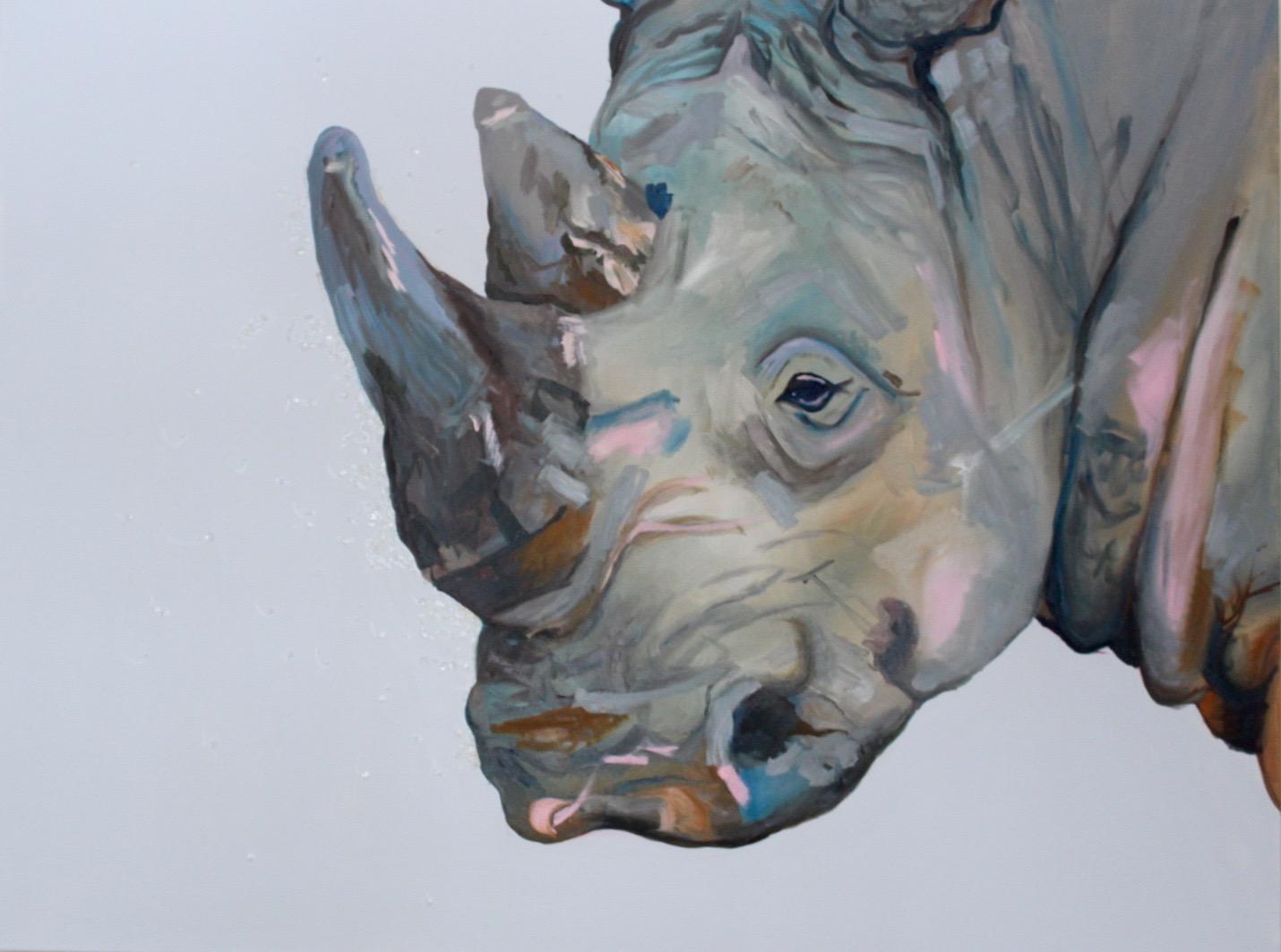 Rhino with Beads