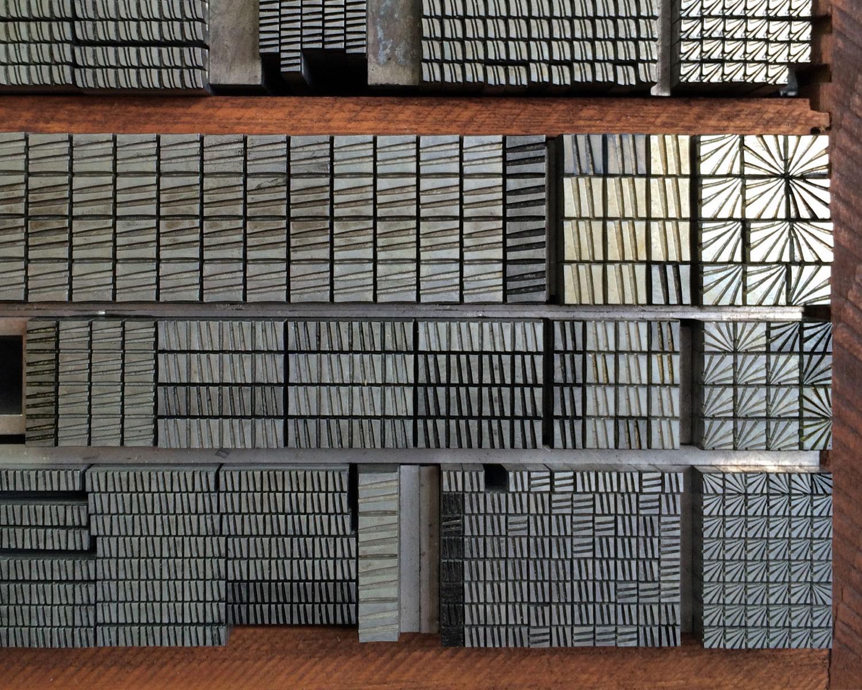 Letterpress ornamental metal type