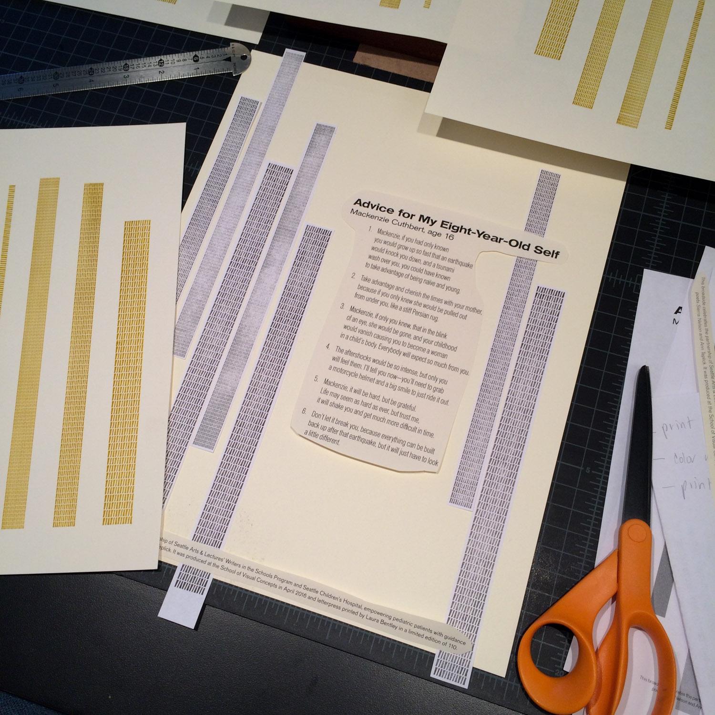 Letterpress poetry broadside work in progress
