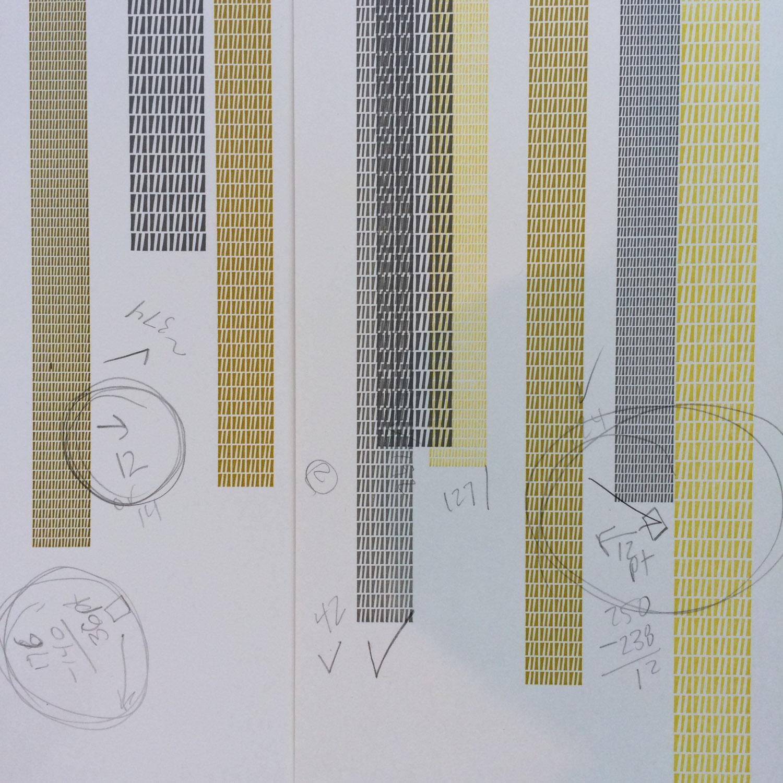 Letterpress print make-ready work in progress