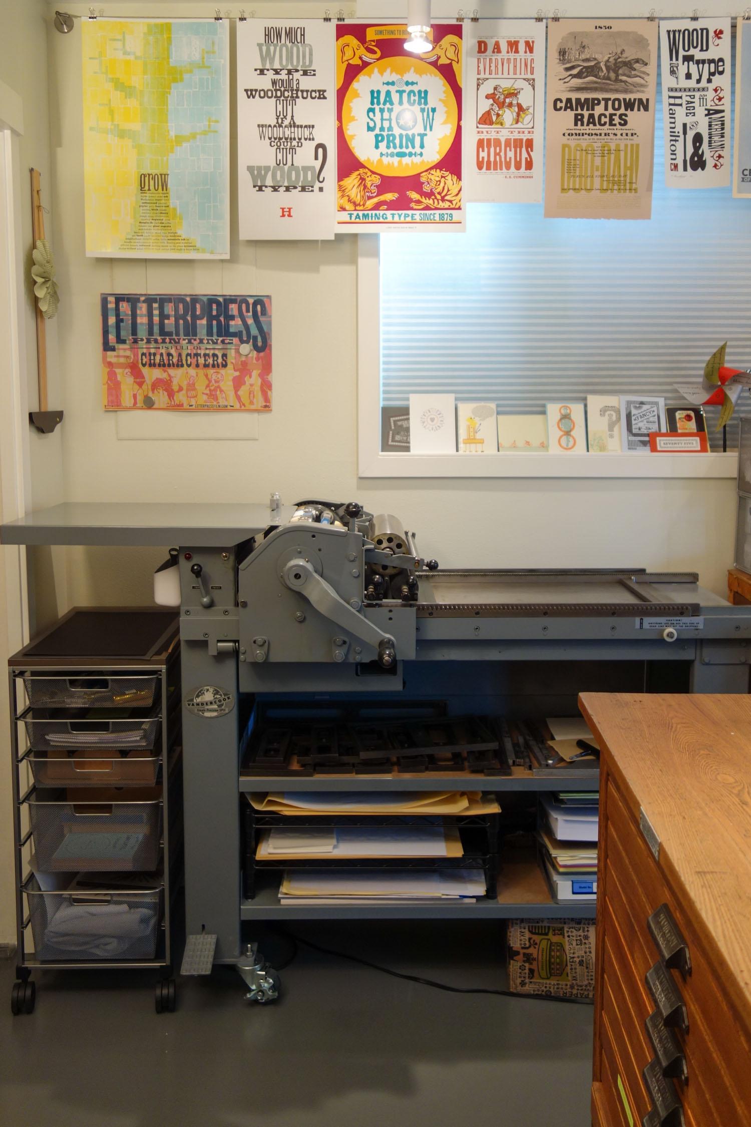 Vandercook SP-15 cylinder printing press