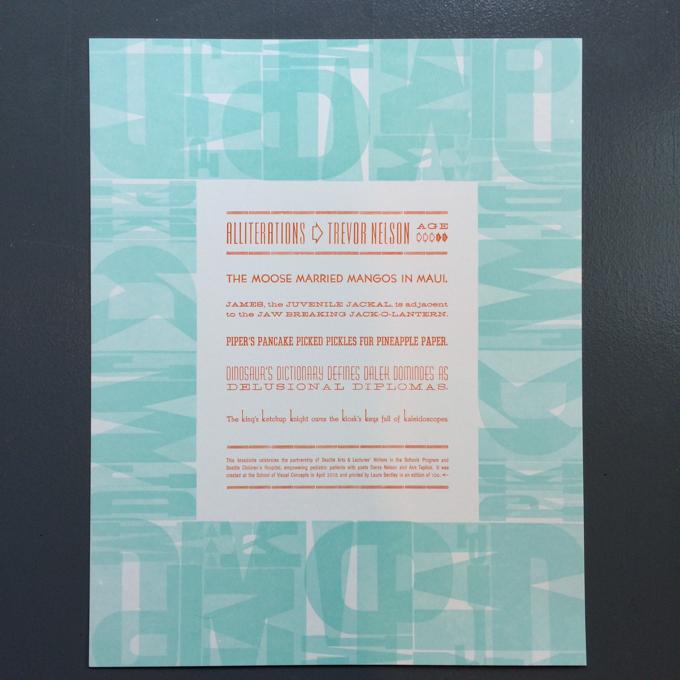 Finished letterpress broadside