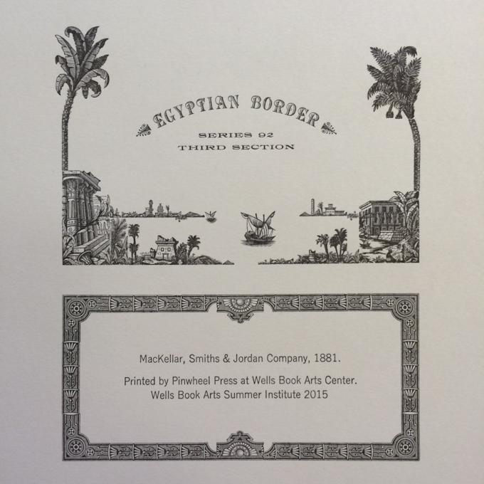 Letterpress print of Egyptian Border from MacKellar Smiths and Jordan