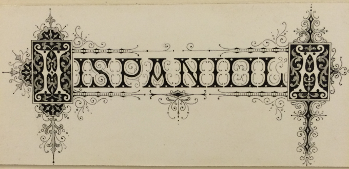 Typeface design drawing by Herman Ihlenburg from Cary Collection