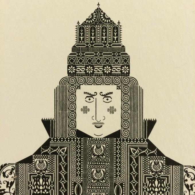 King Bruce broadside by Albert Schiller, 1930