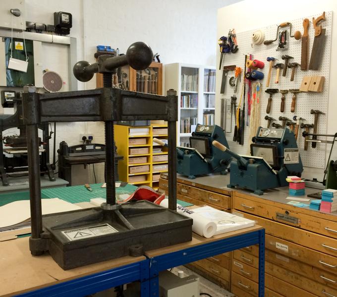 Book press and binding equipment