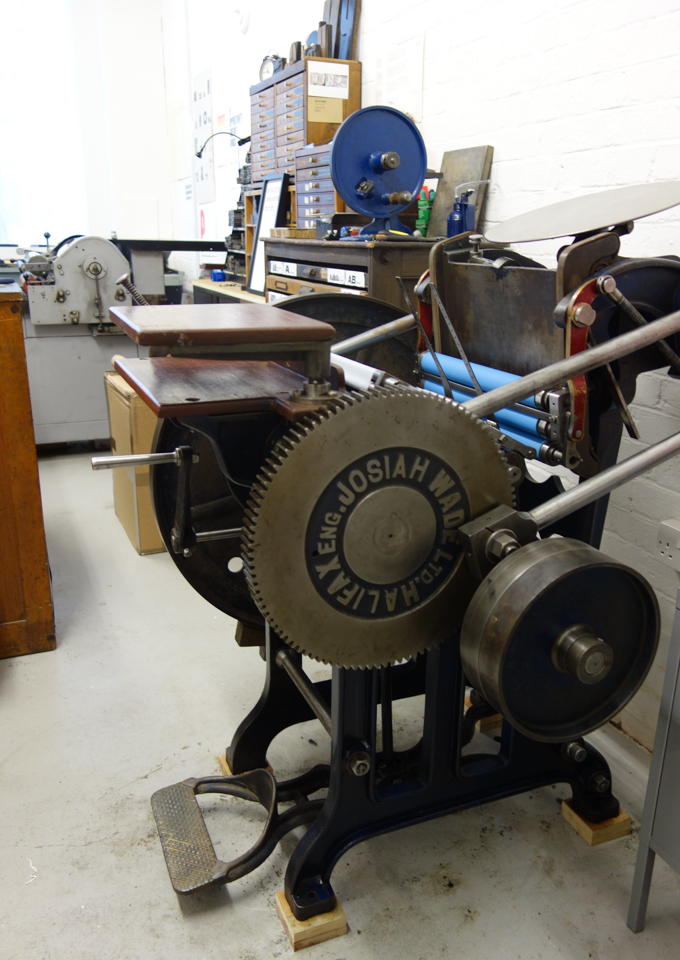 Arab platen press at The Counter Press letterpress studio