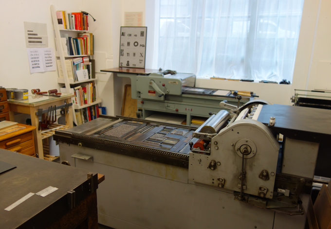 Printing presses at The Counter Press letterpress studio