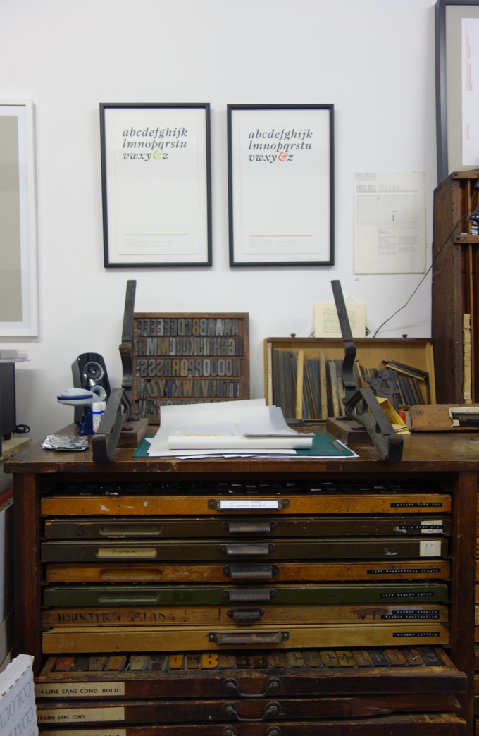 More printing tools at The Counter Press letterpress studio