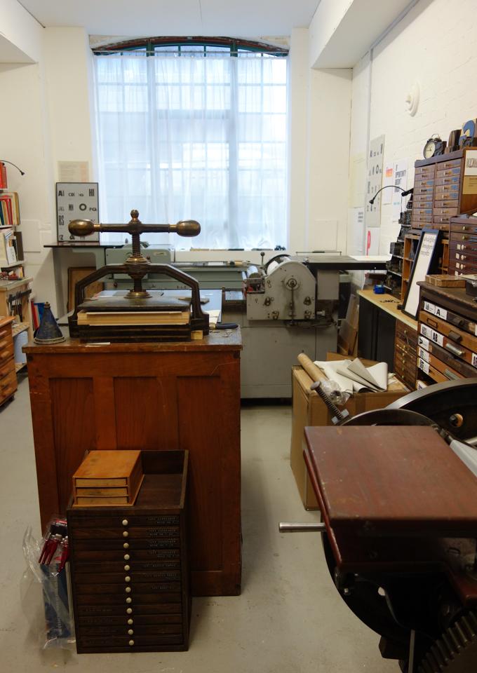 Print studio of The Counter Press