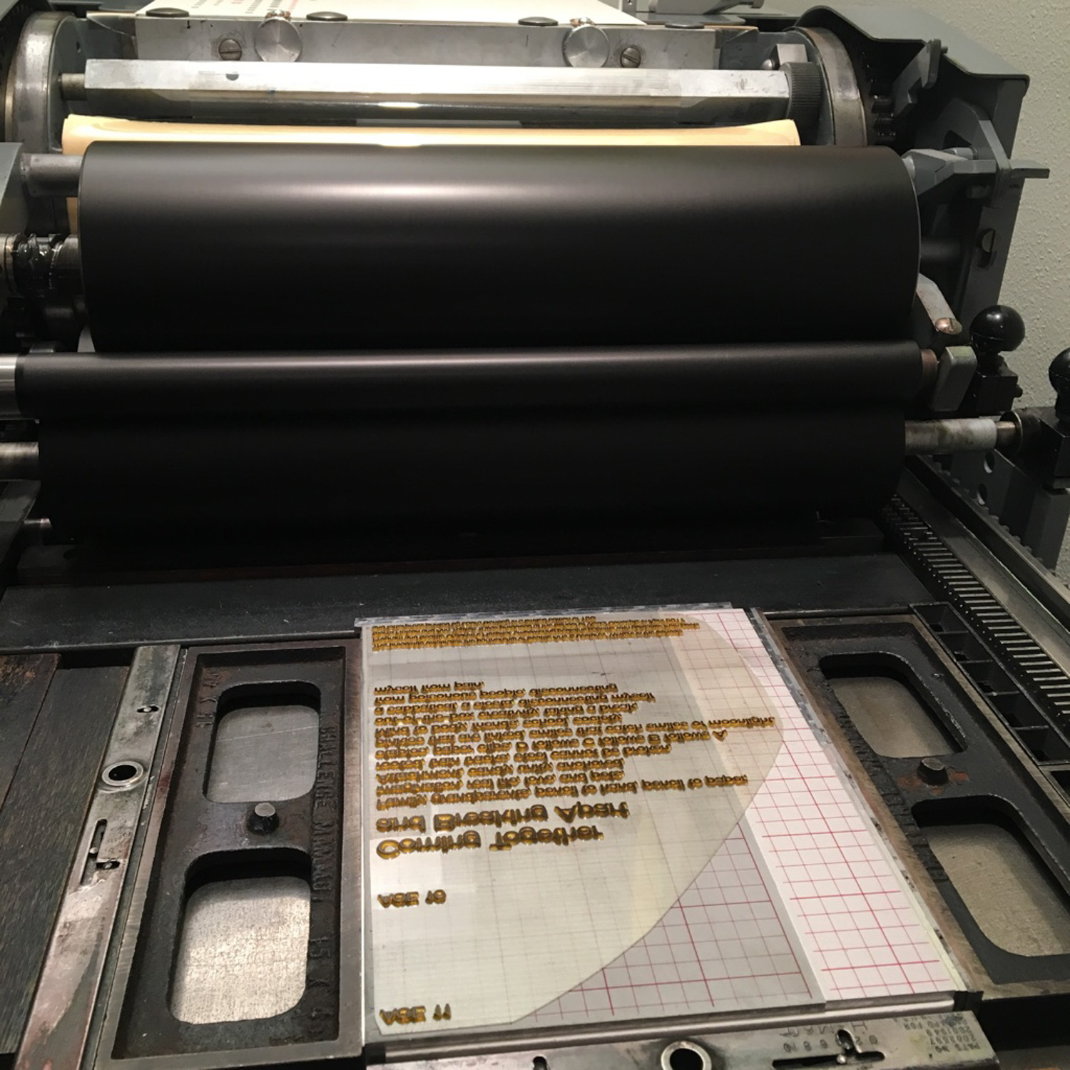 Polymer letterpress plate for poetry type