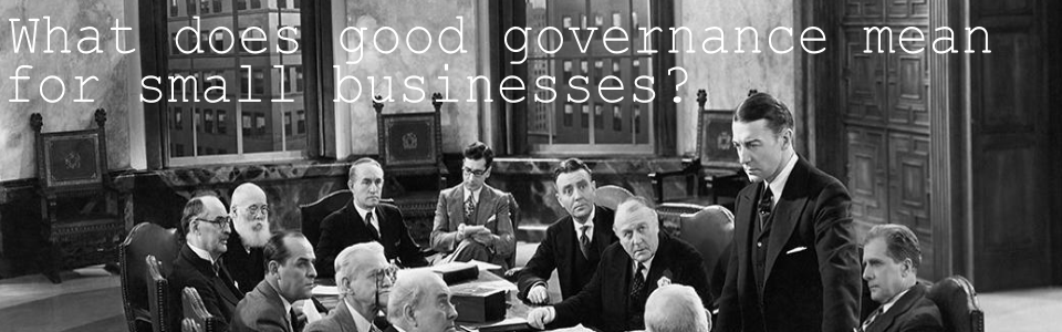 What does good governance mean for small business?