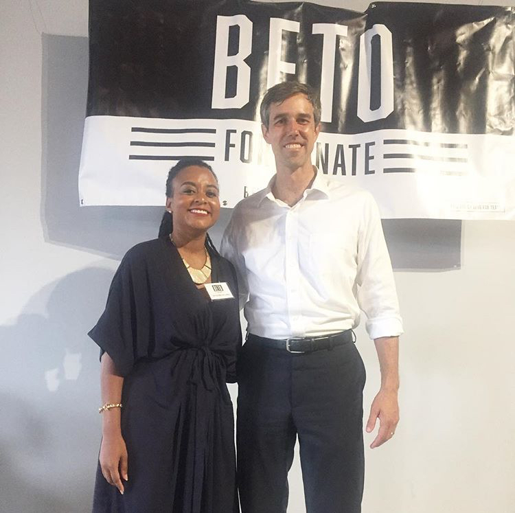 August 10, 2018:  Managing Attorney, Tatiauna Holland with Congressman Beto O'Rourke during the African American Women's Empowerment Luncheon in Houston, Texas.