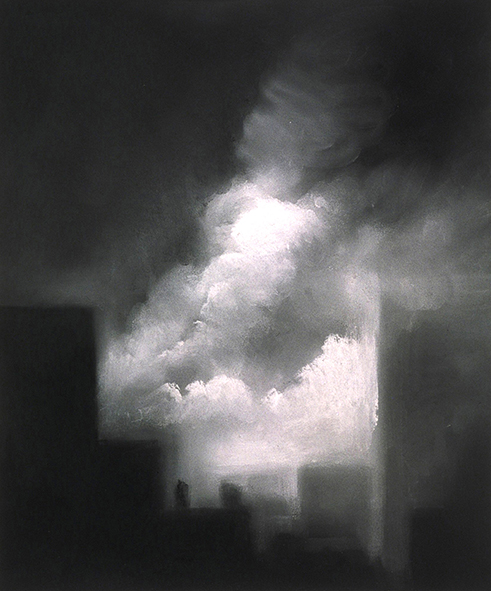 "Ascending Spirit (Pastel on paper, 17"" x 14"")  Collection of 9/11 Memorial Museum"