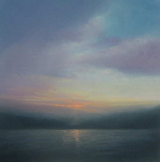 "Twilight (Pastel on paper, 28' x 28"")"