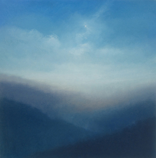 "Mountain Light (Pastel on paper, 26"" x 26"")"